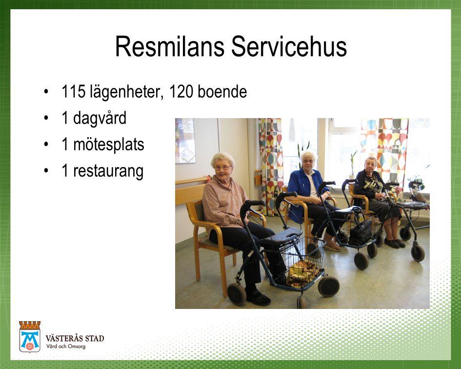 Resmilans Servicehus •Totalt 60 medarbetare på enheten •Vårdpersonalen är fördelade på 3 team •Varje team ansvarar för 40 boende
