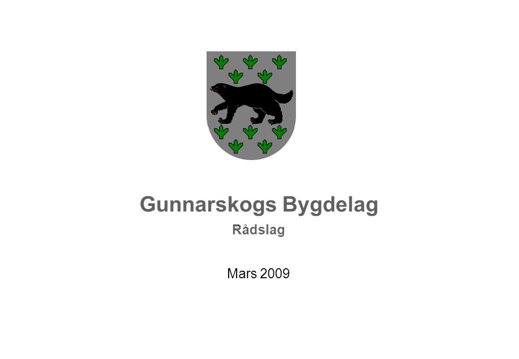 Gunnarskogs Bygdelag Rådslag Mars 2009