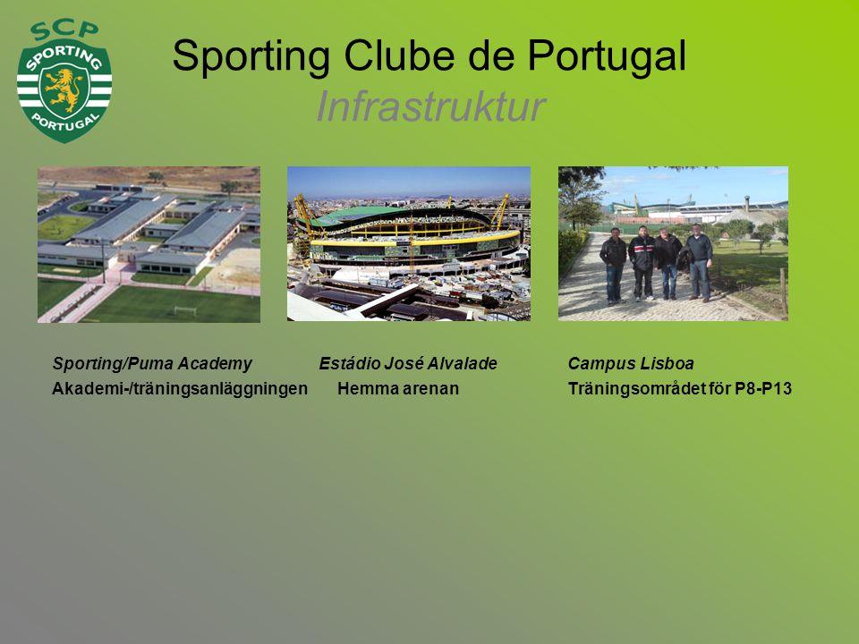 Sporting Clube de Portugal Infrastruktur Sporting/Puma Academy Estádio José AlvaladeCampus Lisboa Akademi-/träningsanläggningen Hemma arenanTräningsområdet för P8-P13
