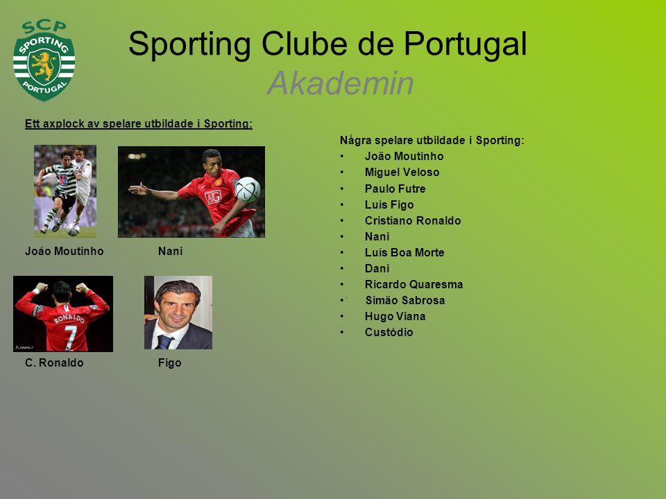 Ett axplock av spelare utbildade i Sporting: Joáo Moutinho Nani C.