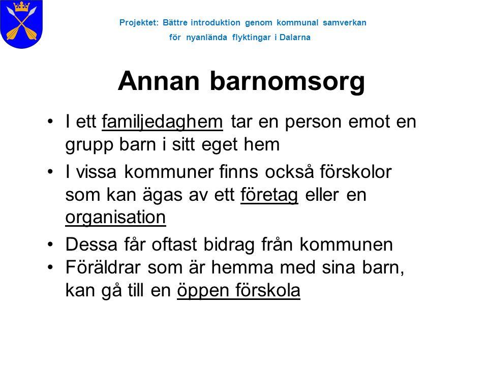 Projektet: Bättre introduktion genom kommunal samverkan för nyanlända flyktingar i Dalarna Anmäl i tid.