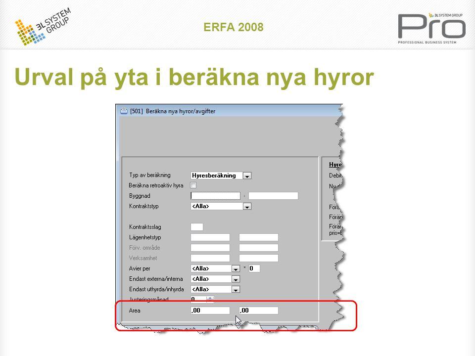 ERFA 2008 Säsongsvarierad hyra Exempel studenthyra Gällande kontrakt/avtal, Hyresgästsammanställning, Budgetrapport tar hänsyn till säsongsvariationer
