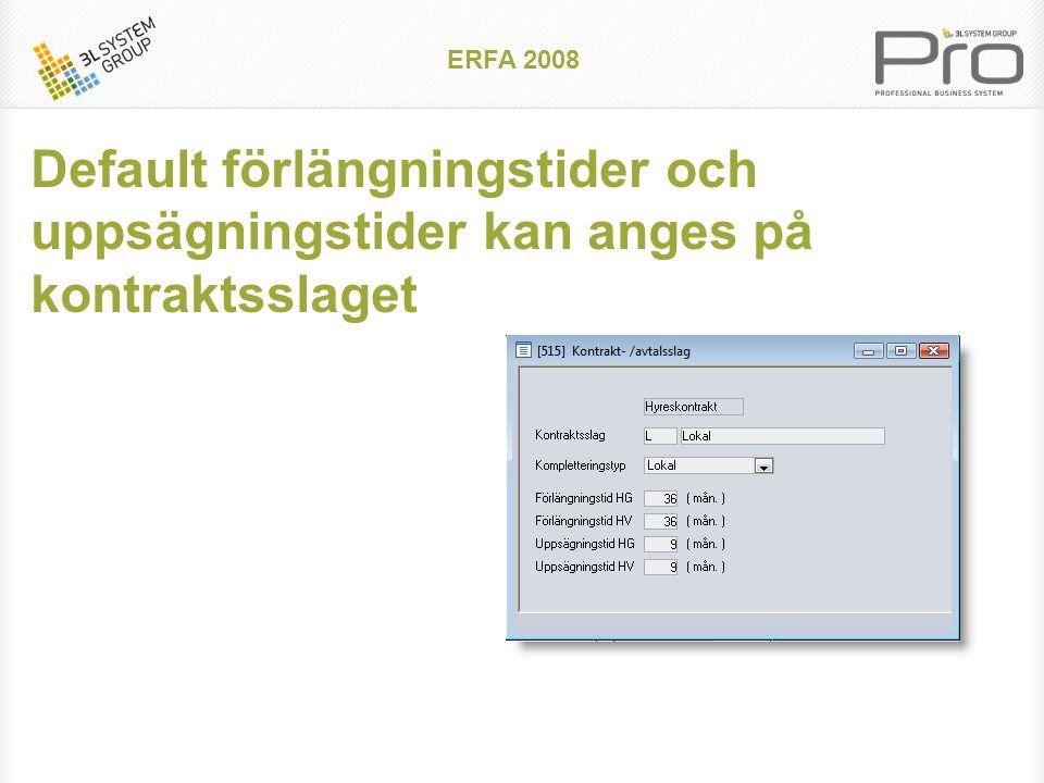 ERFA 2008 Uppräknade uppsägningsdatum visas i kontraktsbilden