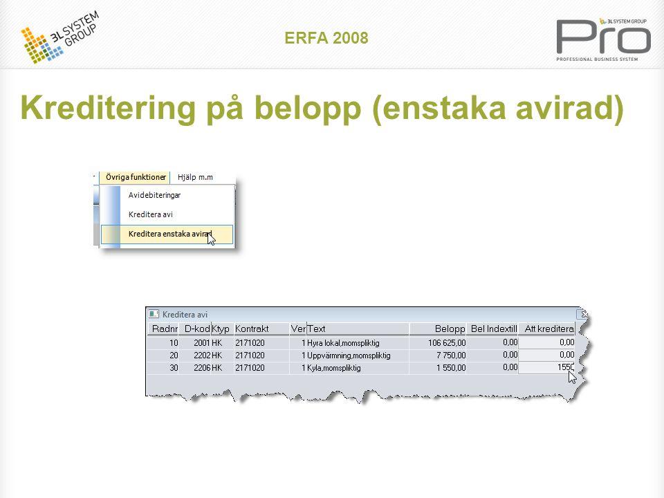 ERFA 2008 Default förlängningstider och uppsägningstider kan anges på kontraktsslaget