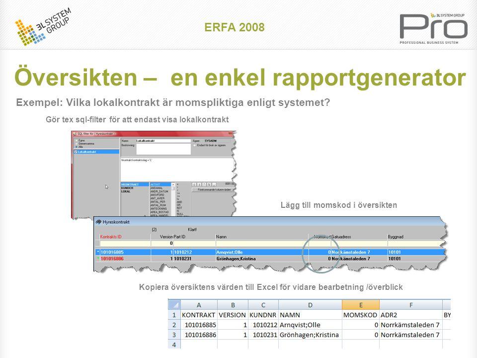 Indexuppräkning av enskild debitering Indexhantering ERFA 2008