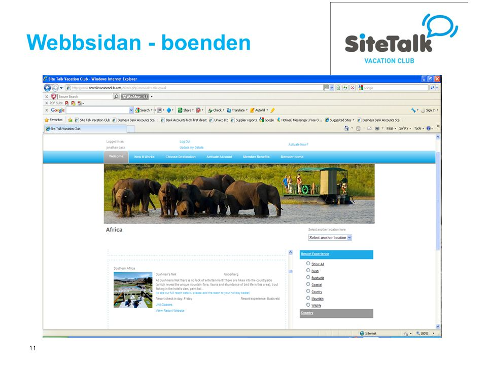 11 Webbsidan - boenden