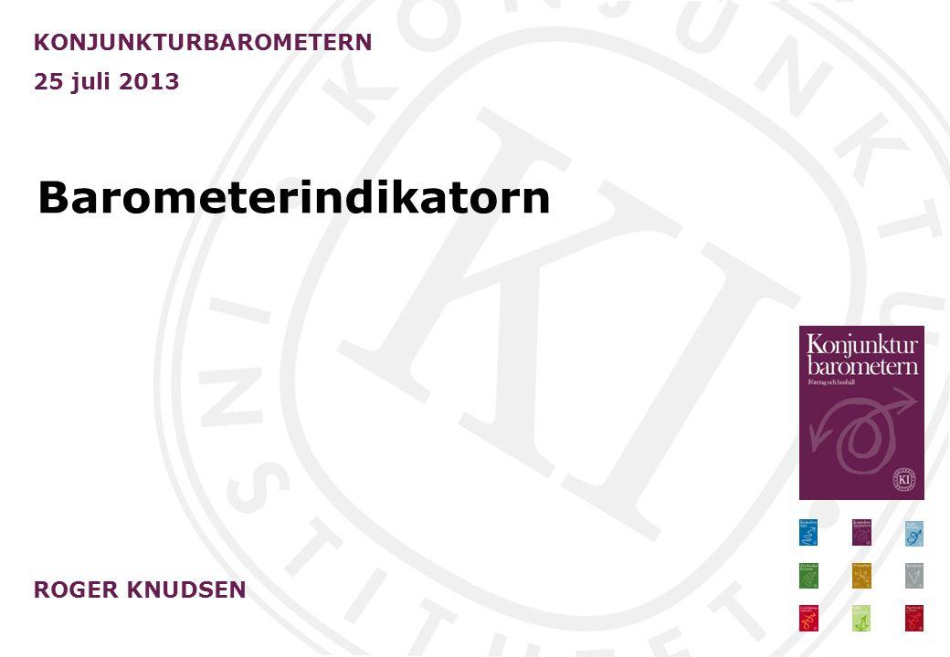 Peter Svensson KONJUNKTURINSTITUTET 25 juli 2013 Uppdatering av konjunkturbilden