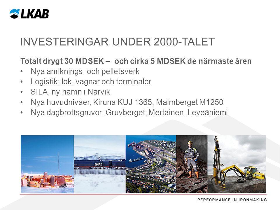 Sv •Gruvstadspark del 1pågår2010-2012 •Flytt av kulturbyggnader Kirunaförproj.2012- •Ny E10 och v870förproj.2012-201X •Ny mittinfart till LKAB förproj.2012- •Nytt stadshusförproj2011- 2016.