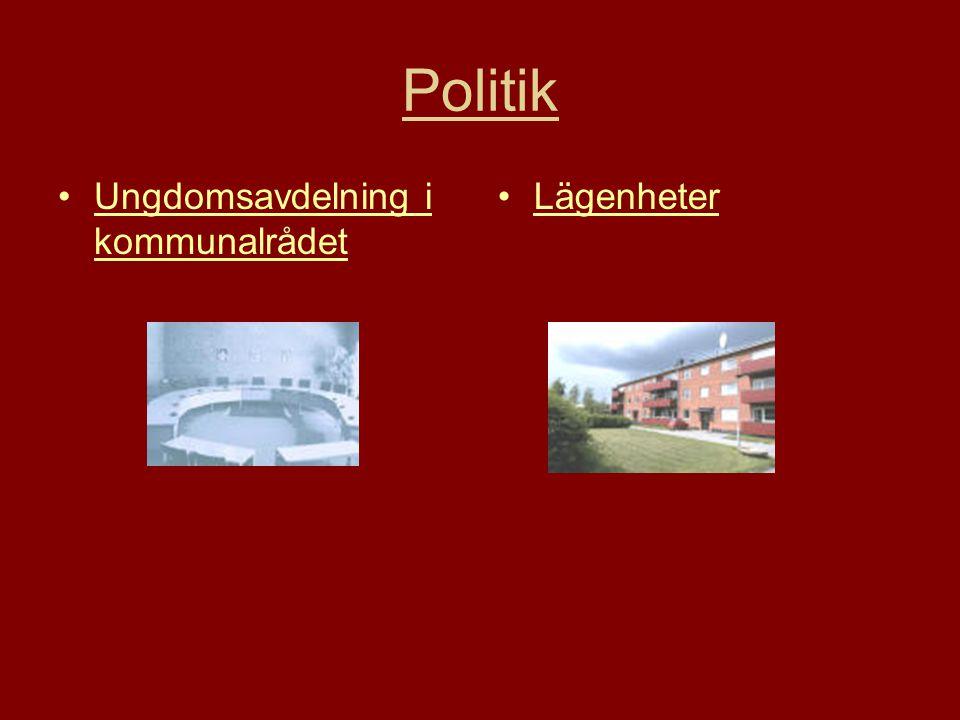 Politik •Ungdomsavdelning i kommunalrådetUngdomsavdelning i kommunalrådet •LägenheterLägenheter
