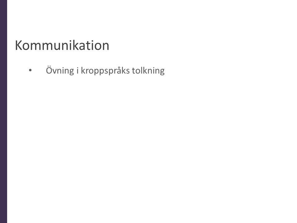 Kommunikation • Övning i kroppspråks tolkning