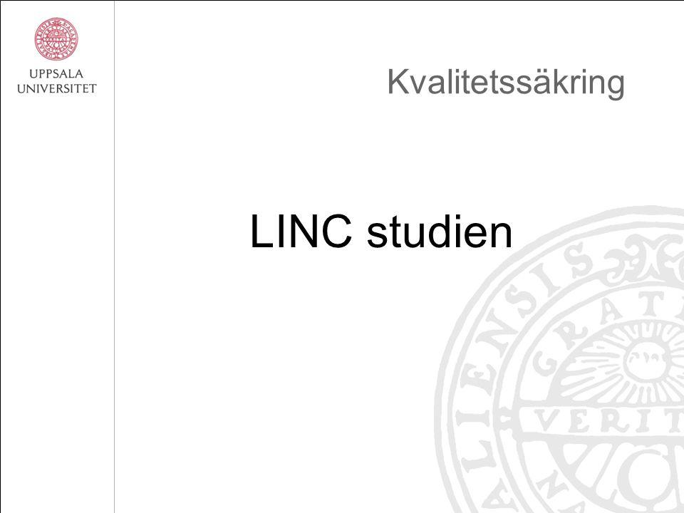 Kvalitetssäkring LINC studien