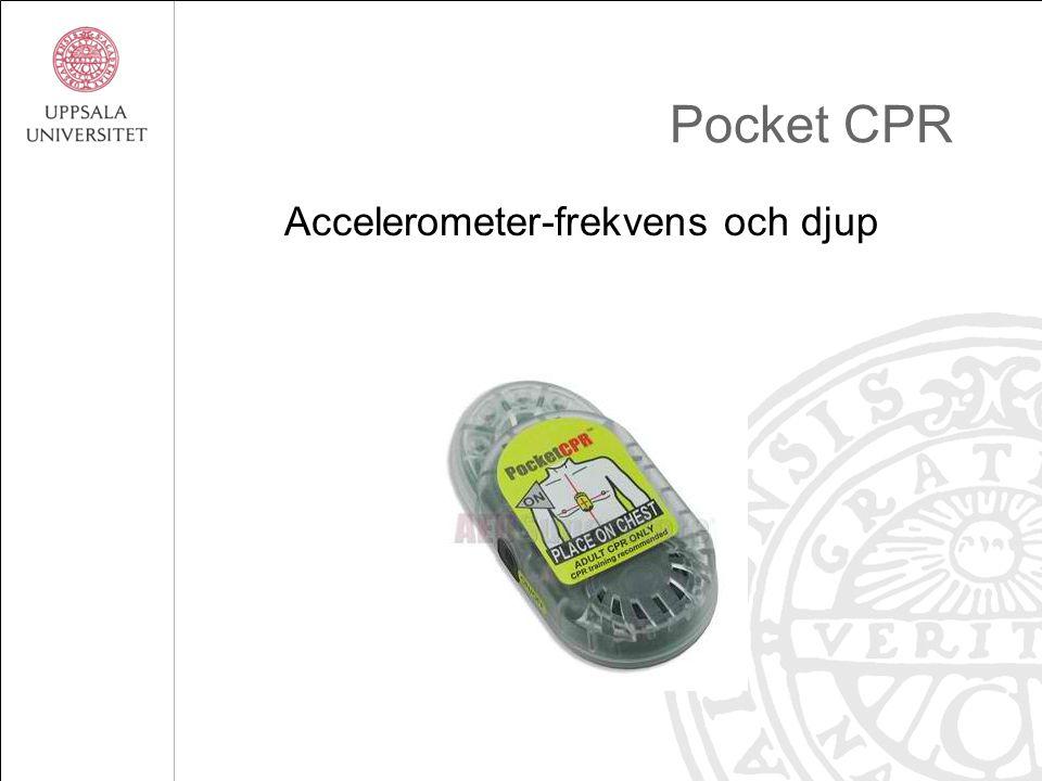 Pocket CPR Accelerometer-frekvens och djup