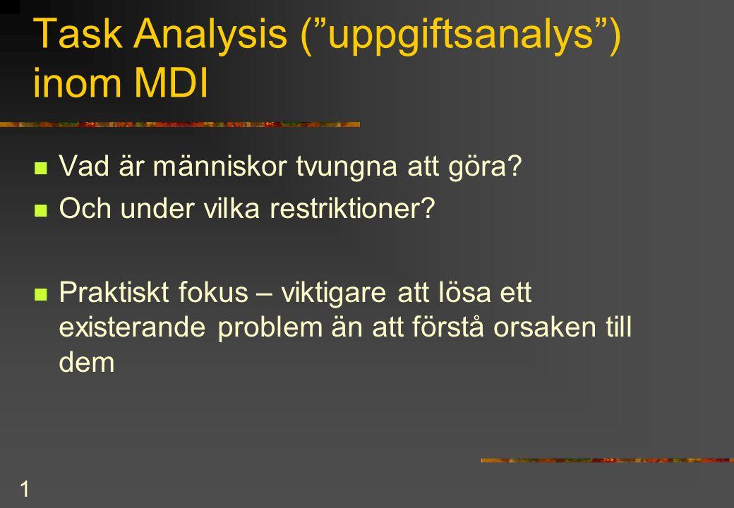 2 Huvusakliga syftem med TA  definiera och ringa in problem  systematiskt insamlande av problem-info  organiserande av insamlad information  modellera delprocesser för att hitta felkällor  skapa hypoteser för hur man ska lösa problem