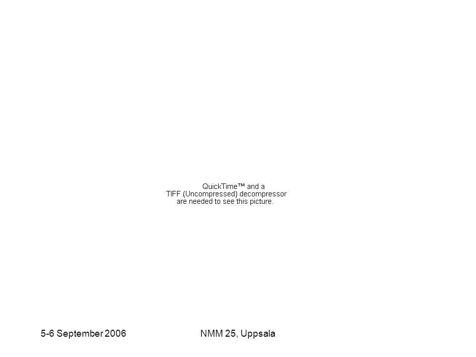 5-6 September 2006NMM 25, Uppsala