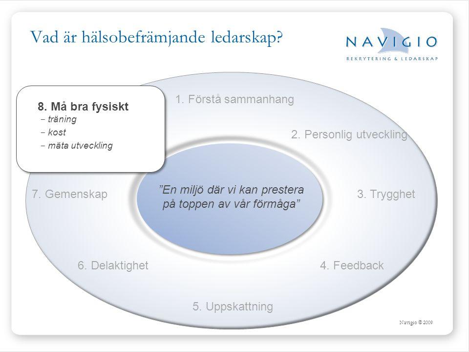 Navigio © 2009 Vad är hälsobefrämjande ledarskap.