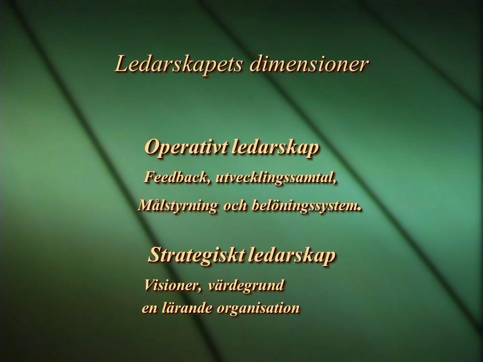 Förutsättningar för ett bra resultat i verksamheten mellan ledare och medarbetare Acceptans Tydlighet Kompetens Acceptans Tydlighet Kompetens