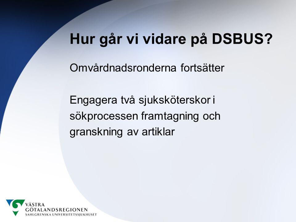 Hur går vi vidare på DSBUS.