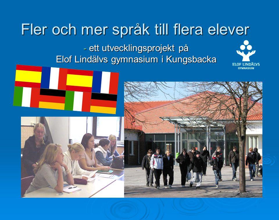 Fler och mer språk till flera elever - ett utvecklingsprojekt på Elof Lindälvs gymnasium i Kungsbacka