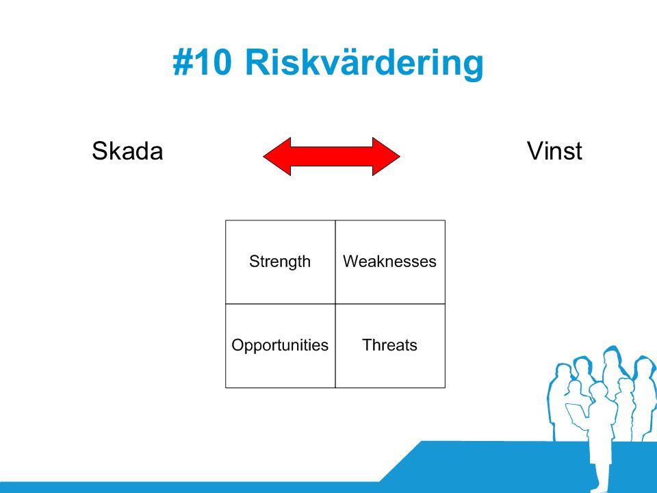 #10 Riskvärdering Skada Vinst