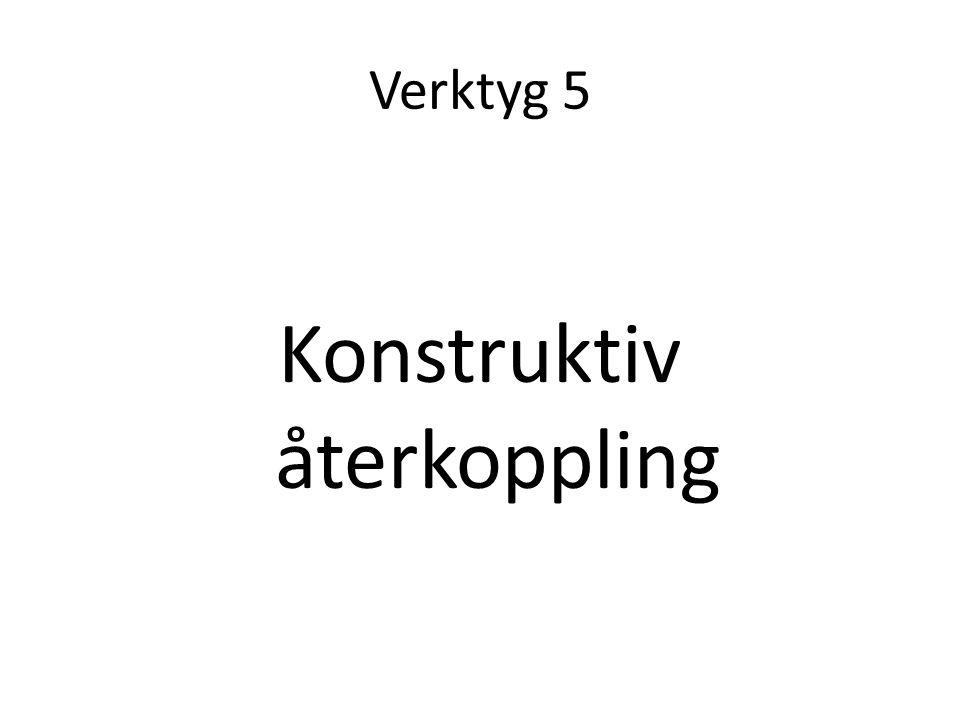 Verktyg 5 Konstruktiv återkoppling