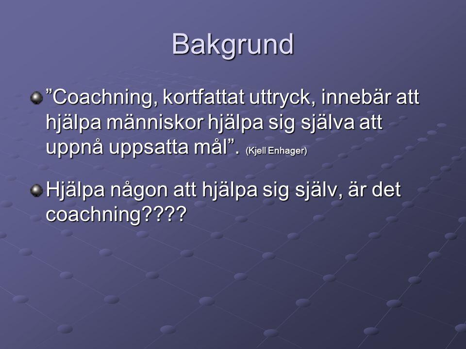 Utgångs frågan är… Hur coachar Jag mig själv?