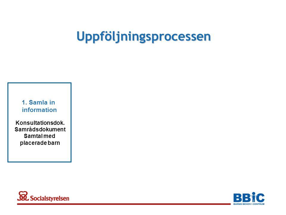 Uppföljningsprocessen 1.Samla in information Konsultationsdok.