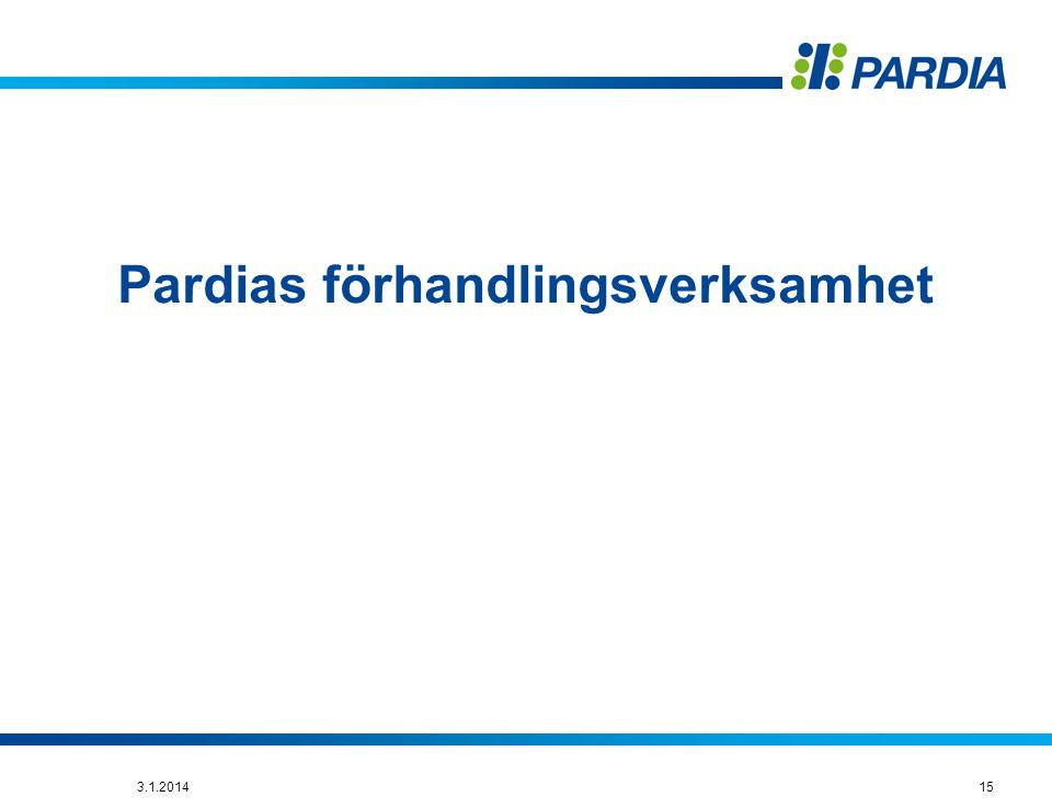 Pardias förhandlingsverksamhet 153.1.2014