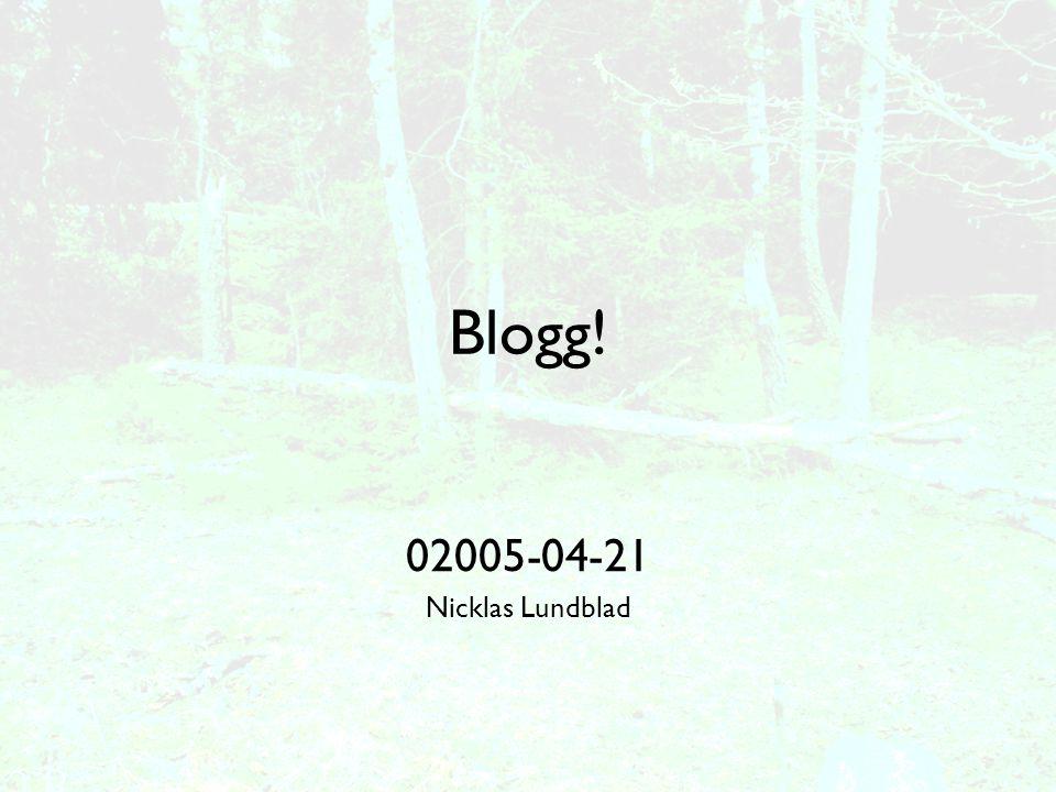 Bloggar som kampanjverktyg