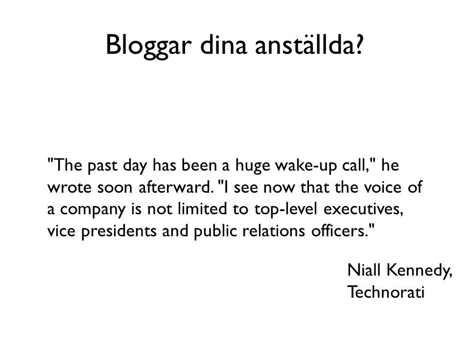 Bloggar dina anställda?