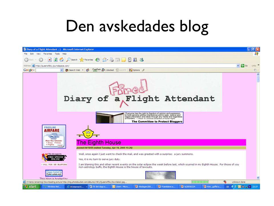 Den avskedades blog