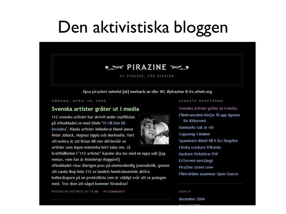 Den aktivistiska bloggen