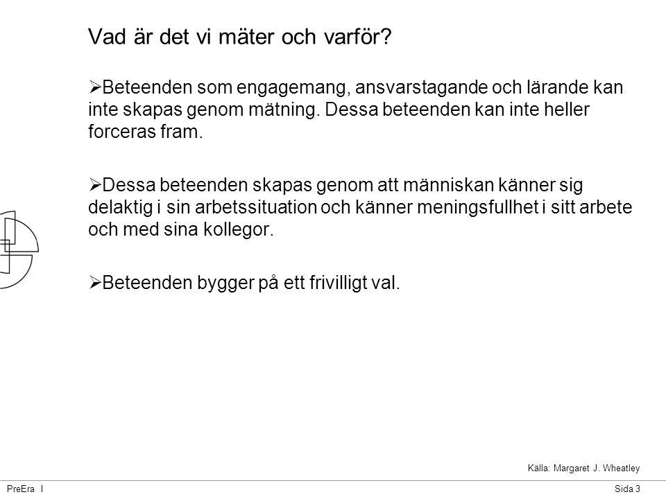PreEra ISida 4 Mätning för att få feedback på det vi gör.