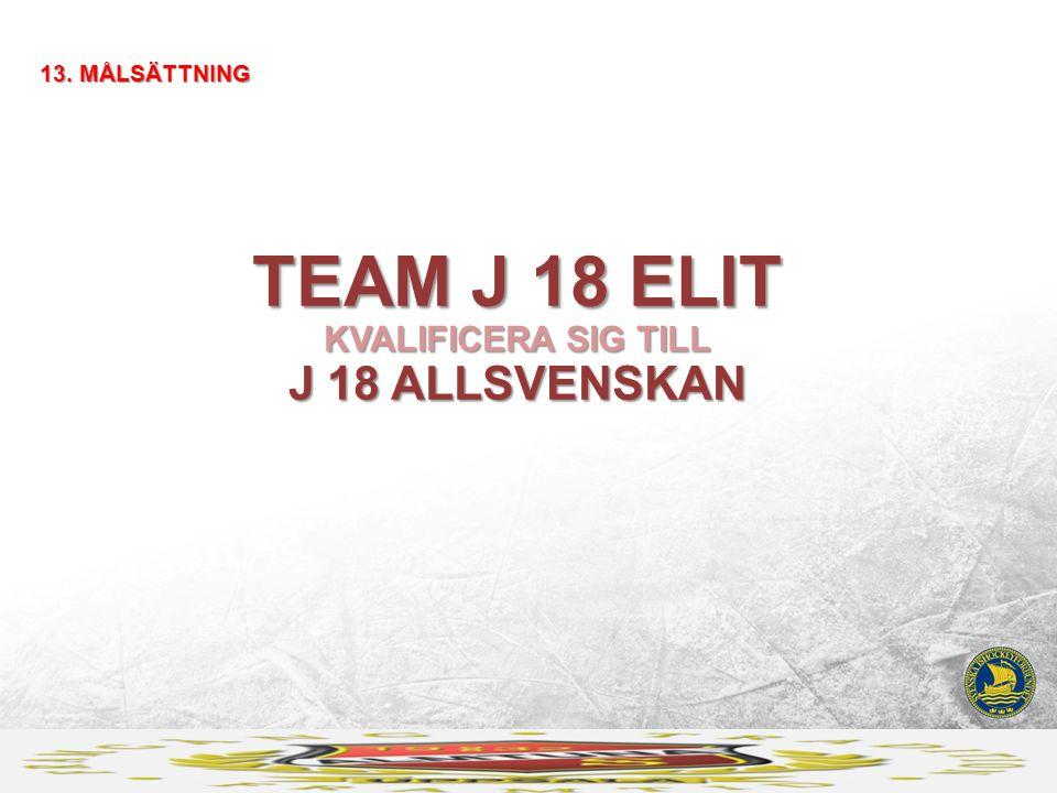 TEAM J 18 ELIT KVALIFICERA SIG TILL J 18 ALLSVENSKAN