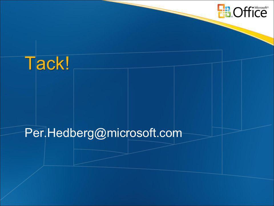 Tack! Per.Hedberg@microsoft.com