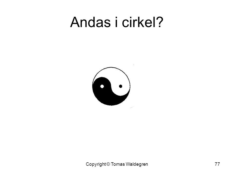 Andas i cirkel? 77Copyright © Tomas Waldegren