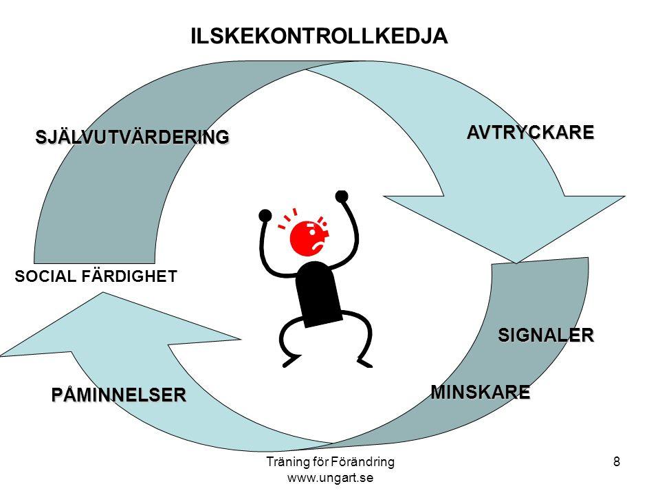 """Träning för Förändring www.ungart.se 7 ILSKEKONTROLLTRÄNING HandlingAGGRESSION Handling SOCIAL FÄRDIGHET Ilskekontollträning """"Stubinförlängare"""" Ilskek"""