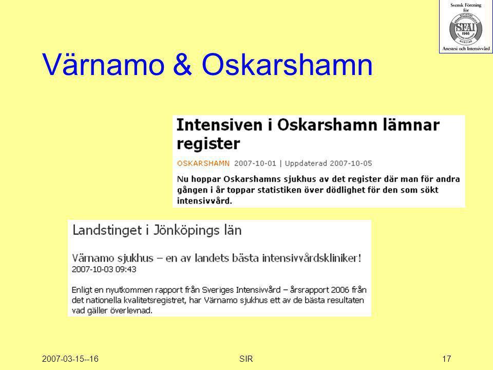 2007-03-15--16SIR17 Värnamo & Oskarshamn