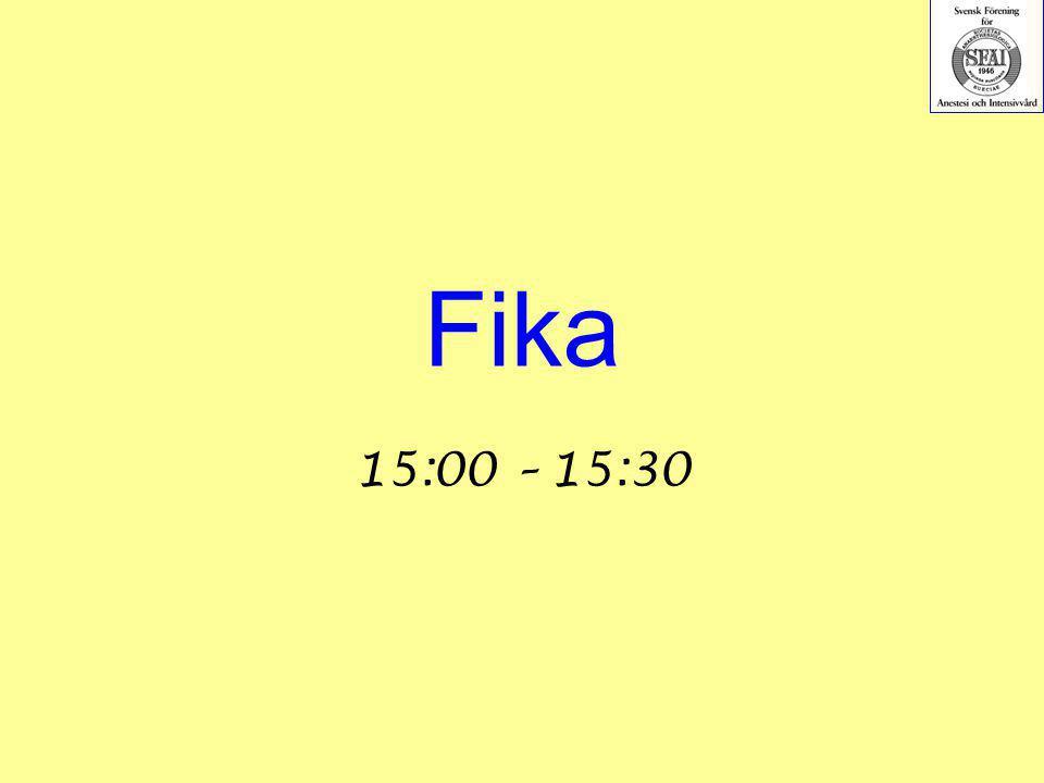 Fika 15:00 – 15:30