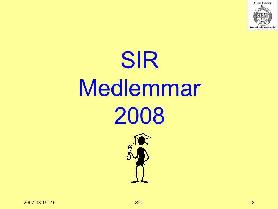 2007-03-15--16SIR3 SIR Medlemmar 2008