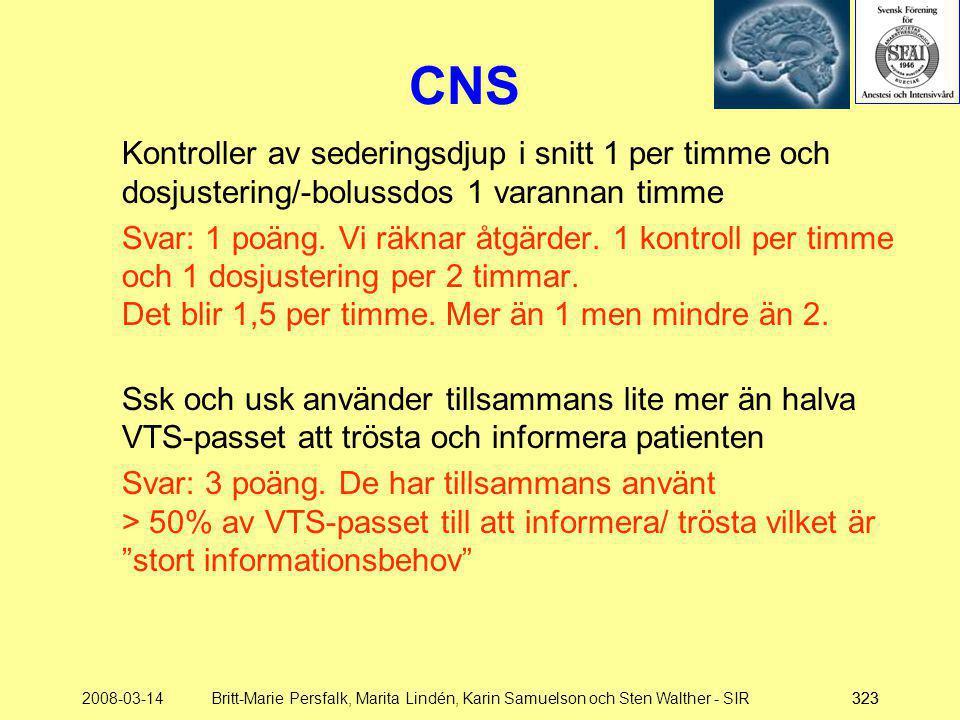 2008-03-14Britt-Marie Persfalk, Marita Lindén, Karin Samuelson och Sten Walther - SIR323 Kontroller av sederingsdjup i snitt 1 per timme och dosjuster