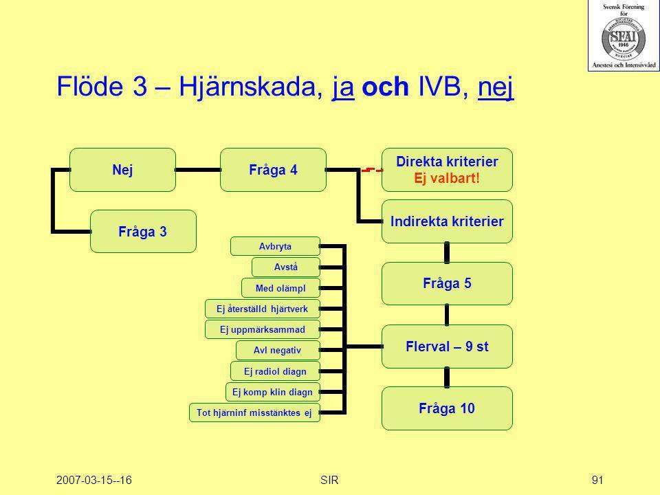 2007-03-15--16SIR91 Flöde 3 – Hjärnskada, ja och IVB, nej