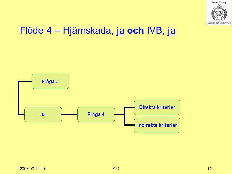 2007-03-15--16SIR92 Flöde 4 – Hjärnskada, ja och IVB, ja
