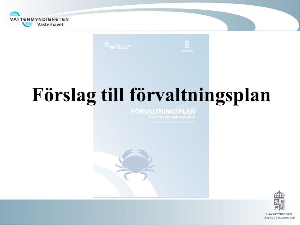 Förslag till förvaltningsplan
