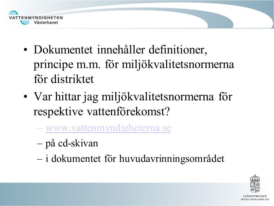 •Dokumentet innehåller definitioner, principe m.m.