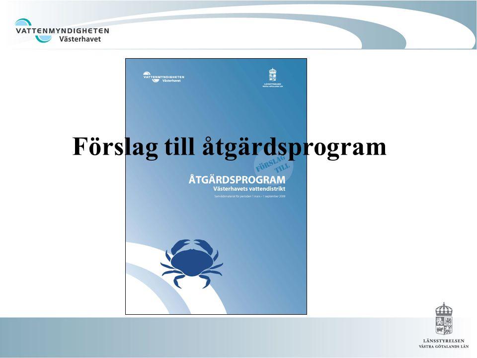 Förslag till åtgärdsprogram