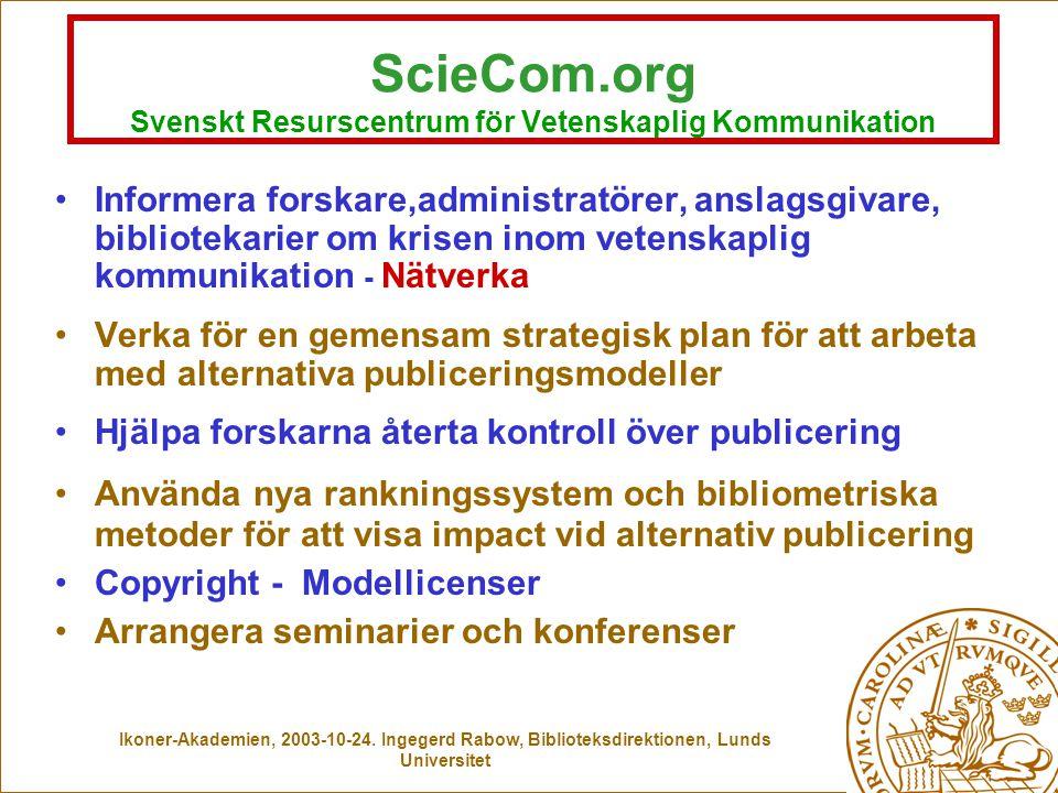 Springer Elsevier Wiley EbscoKluwerMCB Publisher trap? En förlagocentrisk vision