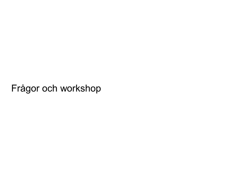 Frågor och workshop