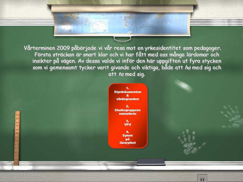 Vårterminen 2009 påbörjade vi vår resa mot en yrkesidentitet som pedagoger.