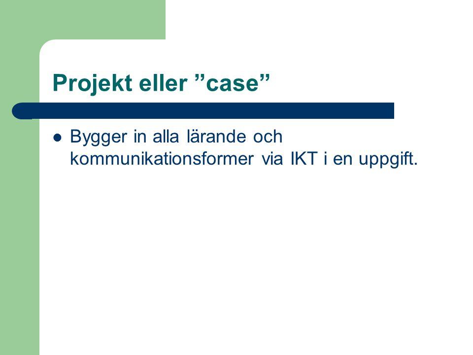 """Asynkrona seminarier via IKT-stöd  Meddelandekonferens  Textdokumentkonferens, s.k. """"rulle"""""""