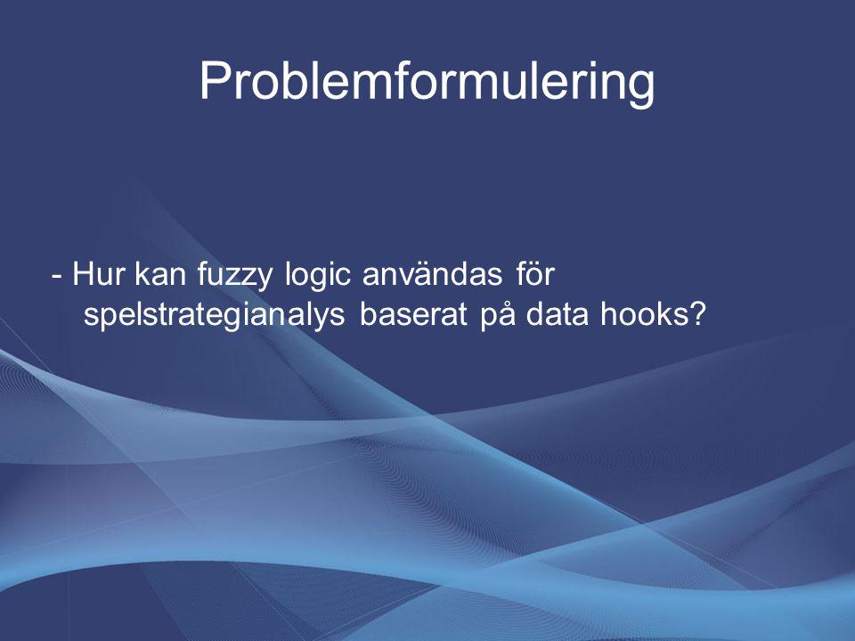 Problemformulering - Hur kan fuzzy logic användas för spelstrategianalys baserat på data hooks?
